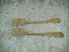 Antique Forks Silverite Nickel Silver WP, William Page & Co of Birmingham 1890's