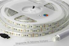 Bobina Led 300 SMD 5050 12V 10.8W/M RGB IP65 Impermeabile 5 Metri Unguente Di S