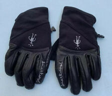 Smartwool Gloves Black Leather Womens