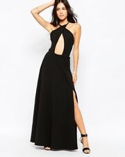 Club l Maxi Dress With Keyhole Front in Black. UK 10
