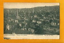 GREECE V.OLD POSTCARD USED 1916 -SALONICA GENERAL VIEW  -V. RARE