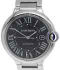 Cartier Ballon Bleu Steel Black Dial Mens 42mm Automatic Watch W6920042 3765