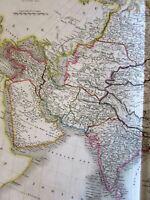 Asia Arabia India Anam China Tibet Caubul Nepaul 1829 Sidney Hall large old map