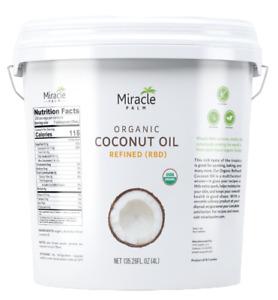 Organic, Refined Coconut Oil (RBD) No Flavor or Scent 1 Gallon (128 fl zo) Pail