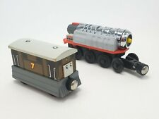 Thomas Wooden Railway Metal Motorized Jet Engine With Toby 2004 Gullane TESTED