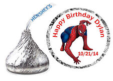 216 SPIDERMAN BIRTHDAY PARTY FAVORS HERSHEY KISS KISSES LABELS