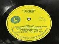 LP / RAUL MARRERO & LUIS RAMIREZ Y SU ORQUESTA,DISCOS MUNDO (NO COVER ONLY VINYL