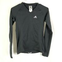 Adidas Supernova Women Top Size Medium Black V Neck Long Sleeve Shirt