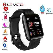 LEMFO Heart Rate Blood Pressure Smart Watch Fitness Tracker Sport Band Bracelet