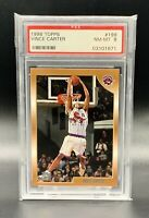 ❤️1998 TOPPS VINCE CARTER ROOKIE RC #199  PSA 8 NEAR MINT ❤️Awesome Card!