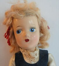 Composition 1930's Doll Original Ethnic Dress Blonde Human Hair Painted Features