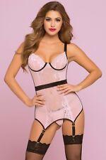 Blush Bond Chemise Set Womens Valentine's Day Lingerie Apparel Pink Extra Large