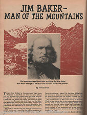 Jim Baker* Mountain Man+Adams,Ashley,Beckwourth,Bent,Breakenridge,Bridge,Fraeb