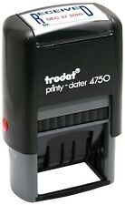 TRODAT PRINTY 4750/L1 DATE & TEXT 'RECEIVED' RUBBER STAMP