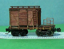 MOW LOGGING CABOOSE Z Scale Laser Cut Wood Unpainted Rolling Stock Kit RSL4402