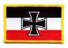 Aufnäher Gösch - Eisernes Kreuz Patch Flagge Fahne