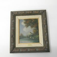 Vtg Oil Painting on Canvas Reproduction Italian Artist Mariani Renaissance Style