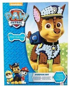 Paw Patrol Pompom Art Set