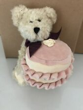 Boyds Bear Anna Manymore Holding Happy Birthday Cake Jointed Tags 2003