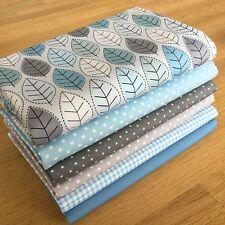 Winter Fat Quarter Bundle {2} 100% Baumwolle ~ Saison, blau, grau, Blatt Fabrics