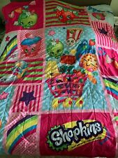 Shopkins Twin Reversible Comforter with 3 piece Twin Set Pre-Owned
