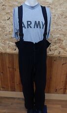 NEW POLARTEC BIB OVERALLS FLEECE SKI SNOW PANTS Military BLACK XL LONG