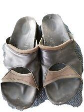 Merrell Pesaro Womens 10 M Sandals Black Leather Slide Slip
