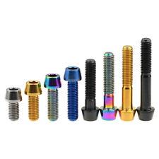 Titanium Bolt Ti Screw 1.25mm Taper Head Conical Head M8x20 25 30 35 40 45 50mm