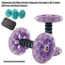 Abdominal AB Wheel Roller Dynamic Strength & Ab Trainer ABS Core Workout Fitness