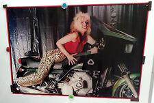 """Blondie, Debbie Harry_Original, 1978 Poster_Leopard Pants_Motorcycle_23.5 4; x 33"""""""