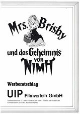 Mrs. Brisby und das Geheimnis von NIMH Werberatschlag Secret of NIMH Don Bluth