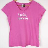 Priscilla Queen Of The Desert Musical 'I Will Survive' Womens Pink T-Shirt 14