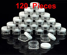 120 Pieces 5 grams/ml High Quality Square Sample Cosmetic makeup Jars Containers
