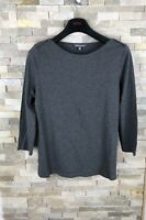 Laura Ashley Ladies Size 14 UK Grey Long Sleeved Top