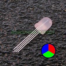 100pcs Round 10mm RGB LED Diffused Lens Common Anode Ham Radio USA 100x Z11