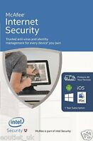 McAfee Internet Security 2017/2018 1 Year UNLIMITED User PC Anti Virus Software