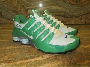 2007 Nike Air Shox NZ iD SZ 9 Classic Green Neutral Grey Premium R4 313428-301