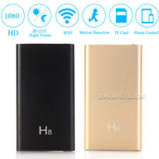 H8 WIFI Wireless HD 1080P DV IP Mini SPY Hidden Camera 3700mA Battery Power Bank