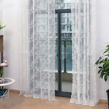 White Lace Floral Voile Curtain Window Treatment For Living Room Bedroom Drapes