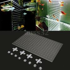 18.9x11.8'' Aquarium 3mm Acrylic Divider With Holes 4pcs Suction Clip 55 Gallon