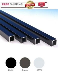 "3/4"" Aluminum Square Deck Railing Baluster 26"" or 32"" BLACK WHITE or BRONZE"