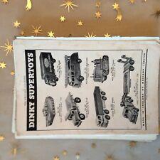 g1k ephemera dinky advert toys supertoys no 660 transporter dump truck