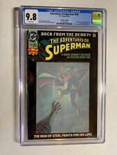 Adventures of Superman 500 cgc 9.8 wp 1st steel superboy connor kent