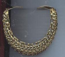KENNETH LANE GOLD weaved choker necklace