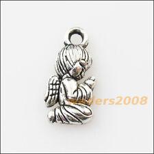 15 New Praying Angel Wings Tibetan Silver Tone Charms Pendants 8x16mm