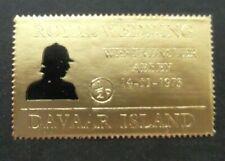 Davaar Island-1973-half pence Gold Foil stamp-Royal Wedding-MNH
