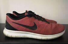 Mens Nike Free RN Run Red Running Gym Fitness Trainers - UK 11.5