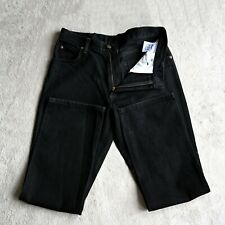 Mens WRANGLER Jeans Black Regular fit Straight Leg denim trousers Size W34 L32