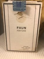 Vintage Ravel FAUN Perfume 1/2 Fl Oz In Amazing Box France Import STamp 70% Full
