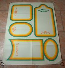 """DDR Plakat Poster """" Wir empfehlen """" Speisekarte DEWAG 86x61 cm"""